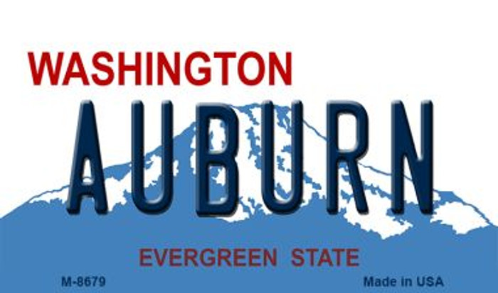 Auburn Washington State License Plate Wholesale Magnet M-8679