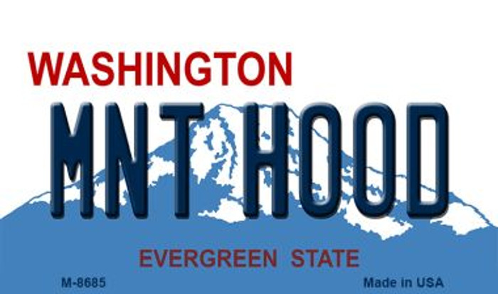 Mnt Hood Washington State License Plate Wholesale Magnet M-8685