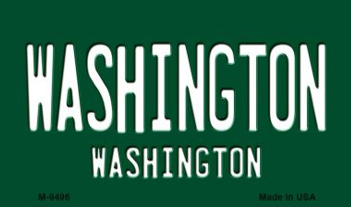 Washington Vintage Washington State License Plate Wholesale Magnet M-9496
