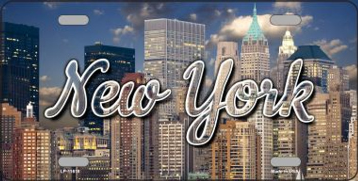 New York City Skyline Wholesale State License Plate LP-11618