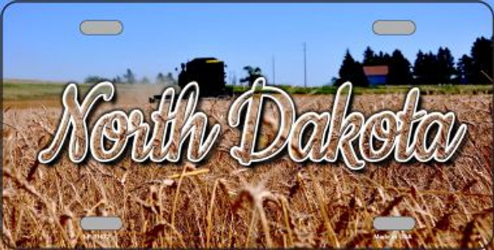 North Dakota Wheat Farm Wholesale State License Plate LP-11622