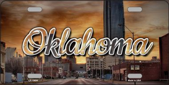 Oklahoma Sunset Skyline Wholesale State License Plate LP-11624