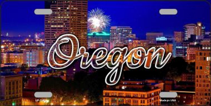 Oregon Firework City Lights Wholesale State License Plate LP-11625