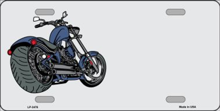 Motorcycle Offset Wholesale Metal Novelty License Plate LP-3476