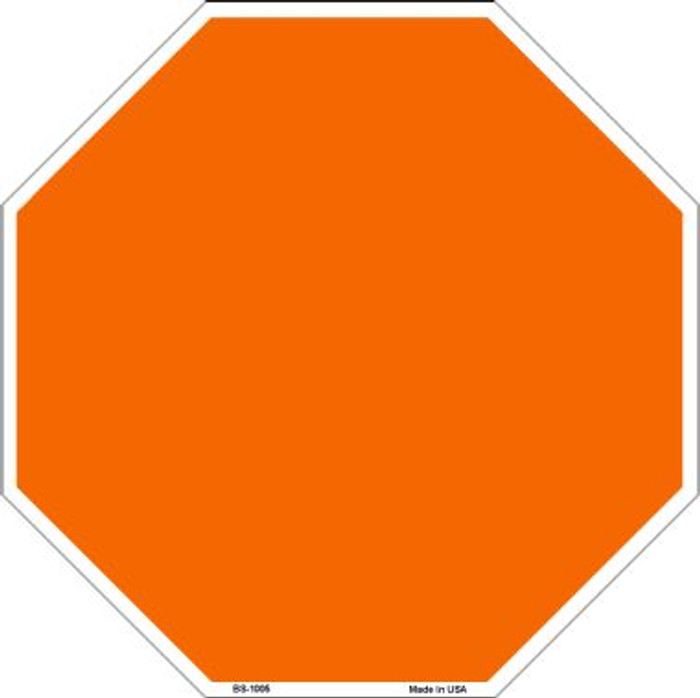 Orange Dye Sublimation Wholesale Octagon Metal Novelty Stop Sign BS-1005