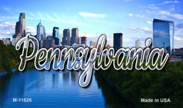 Pennsylvania Delaware City Skyline Wholesale Magnet M-11626