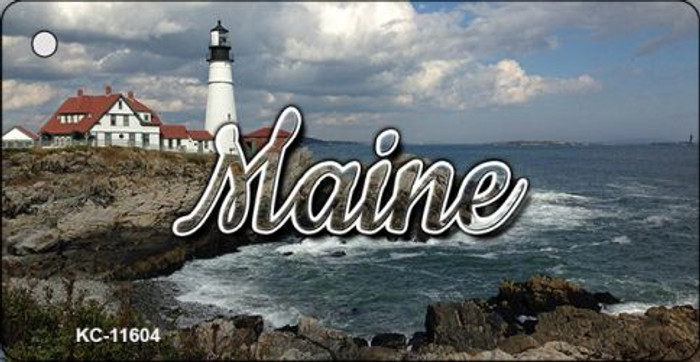 Maine Lighthouse Beach Wholesale Key Chain KC-11604