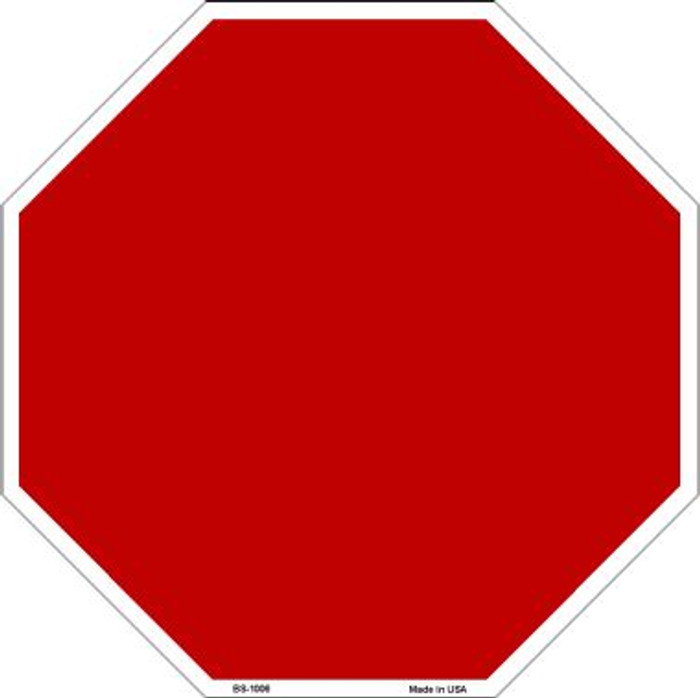 Red Dye Sublimation Wholesale Octagon Metal Novelty Stop Sign BS-1006