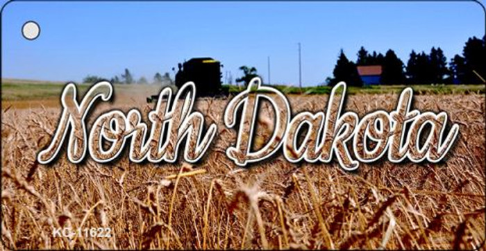 North Dakota Wheat Farm Wholesale Key Chain KC-11622