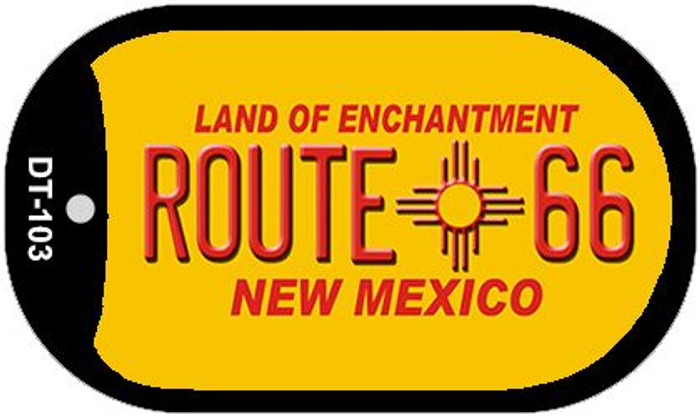RT 66 New Mexico Novelty Wholesale Dog Tag Necklace DT-103
