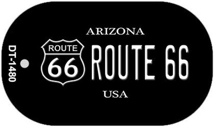 Route 66 Arizona Novelty Wholesale Dog Tag Necklace DT-1480