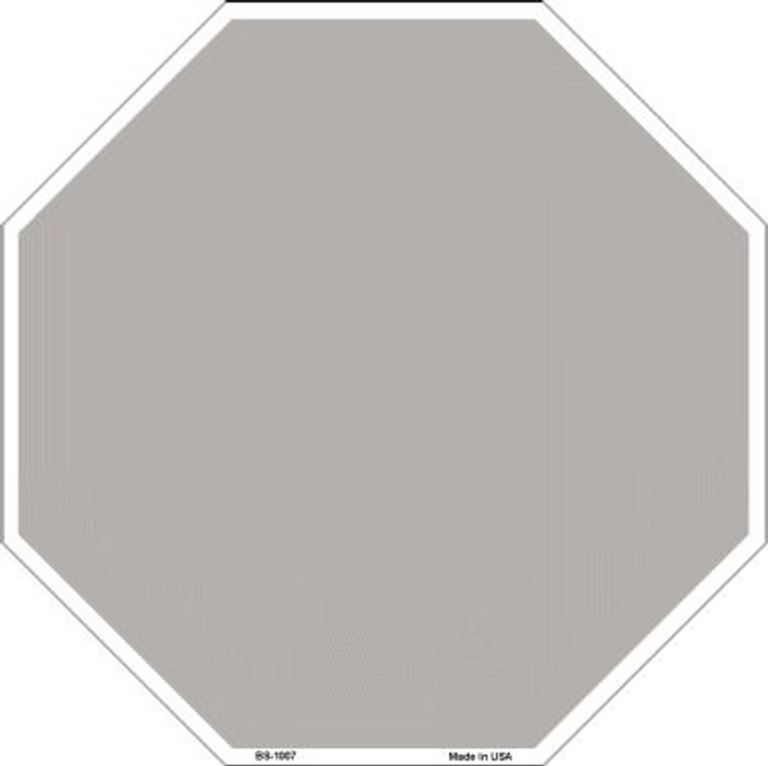 Grey Dye Sublimation Wholesale Octagon Metal Novelty Stop Sign BS-1007