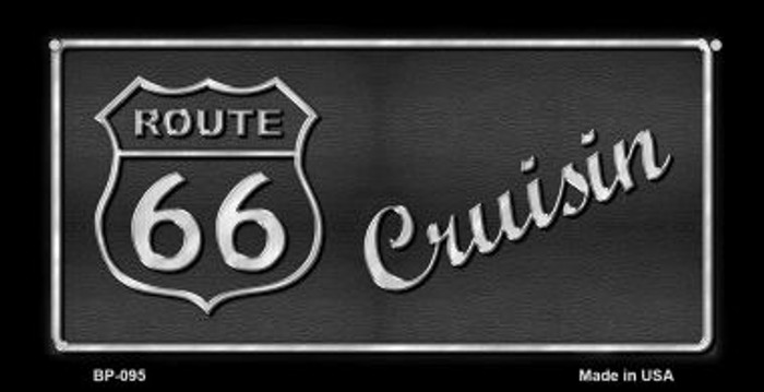 RT 66 Cruisin Novelty Wholesale Bicycle License Plate BP-095