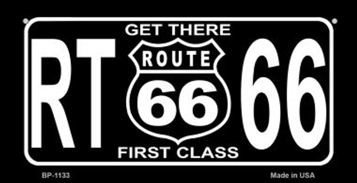 RT 66 Get There First Class Novelty Wholesale Bicycle License Plate BP-1133