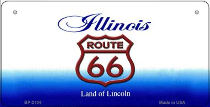 RT 66 Illinois State License Plate Novelty Wholesale Bicycle License Plate BP-2104