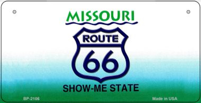 RT 66 Missouri State License Plate Novelty Wholesale Bicycle License Plate BP-2106