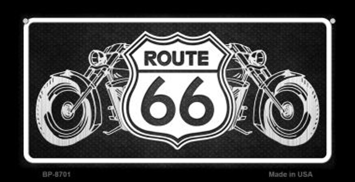 Route 66 Bikes Novelty Wholesale Bicycle License Plate BP-8701