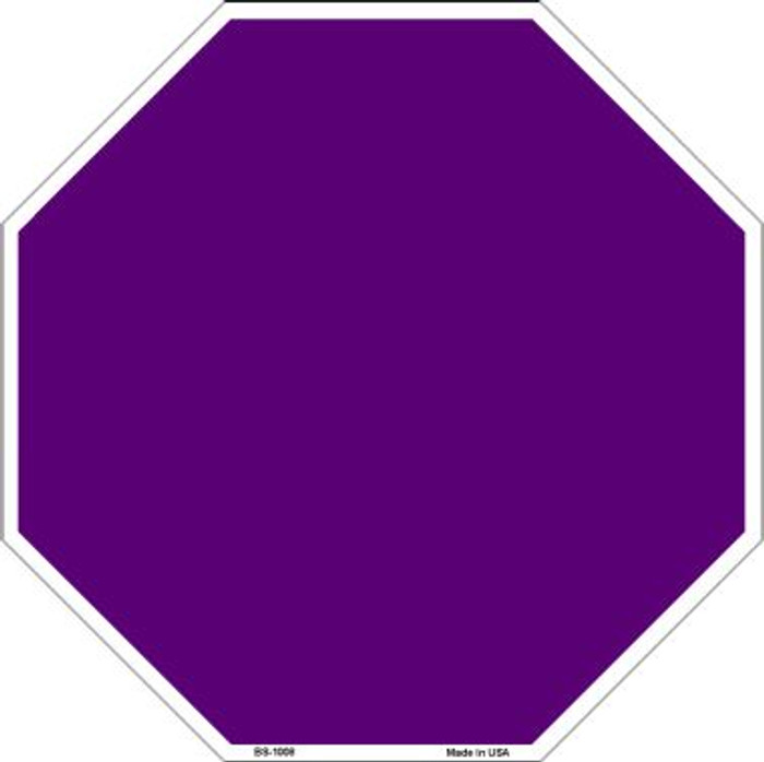 Purple Dye Sublimation Wholesale Octagon Metal Novelty Stop Sign BS-1008