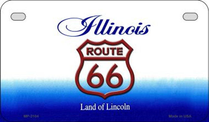 RT 66 Illinois State License Plate Novelty Wholesale Motorcycle License Plate MP-2104
