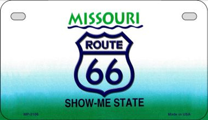 RT 66 Missouri State License Plate Novelty Wholesale Motorcycle License Plate MP-2106