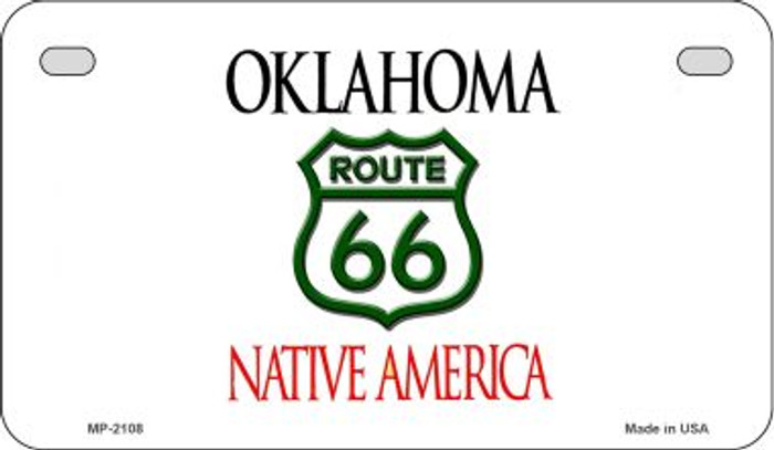 RT 66 Oklahoma State License Plate Novelty Wholesale Motorcycle License Plate MP-2108