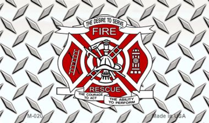 Fire Rescue Diamond Novelty Wholesale Magnet M-020