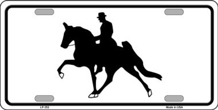 Horse With Rider Wholesale Metal Novelty License Plate