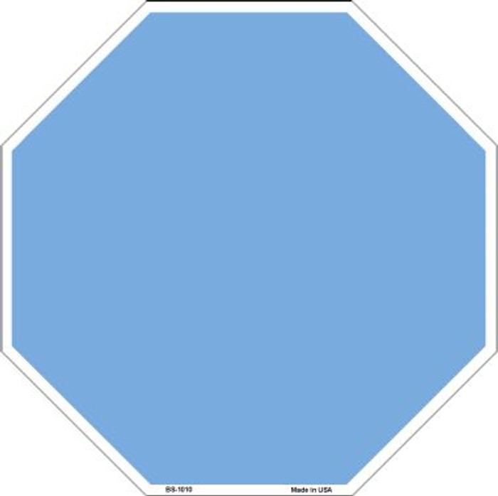 Light Blue Dye Sublimation Wholesale Octagon Metal Novelty Stop Sign BS-1010