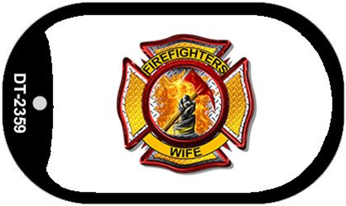 Firefighters Wife Novelty Wholesale Dog Tag Necklace DT-2359