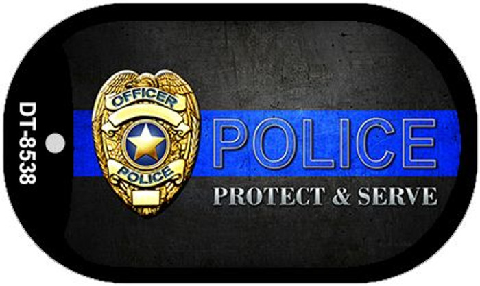 Protect and Serve Novelty Wholesale Dog Tag Necklace DT-8538