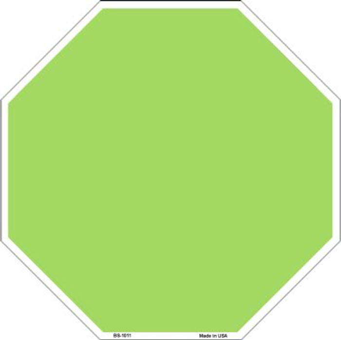 Lime Green Dye Sublimation Wholesale Octagon Metal Novelty Stop Sign BS-1011