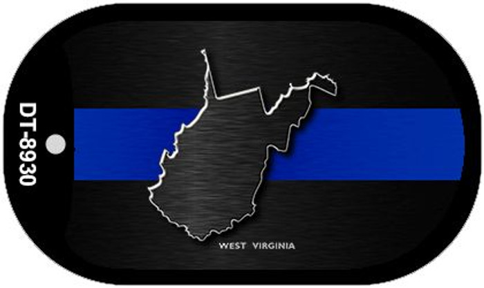 West Virginia Thin Blue Line Novelty Wholesale Dog Tag Necklace DT-8930