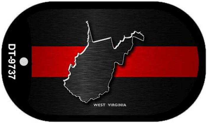 West Virginia Thin Red Line Novelty Wholesale Dog Tag Necklace DT-9737