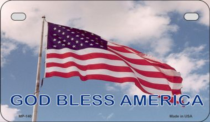 God Bless America Novelty Patriotic Wholesale Motorcycle License Plate MP-140