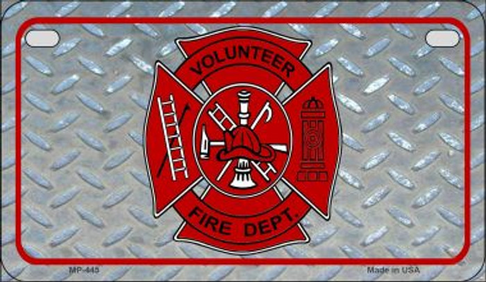 Volunteer Fire Dept Novelty Wholesale Motorcycle License Plate MP-445