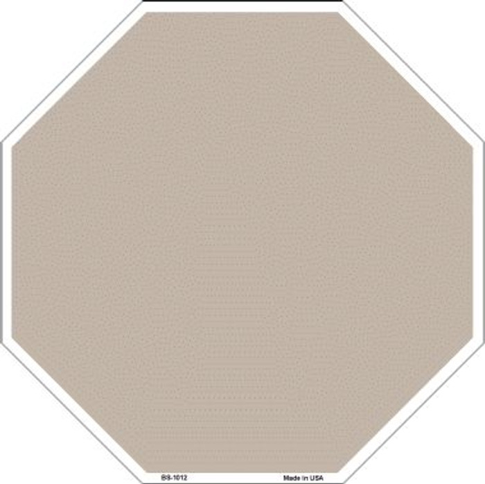 Tan Dye Sublimation Wholesale Octagon Metal Novelty Stop Sign BS-1012