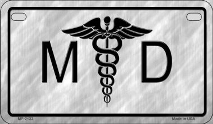 MD Logo Novelty Wholesale Motorcycle License Plate MP-2133