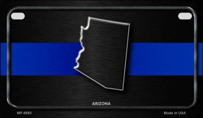 Arizona Thin Blue Line Novelty Wholesale Motorcycle License Plate MP-8885