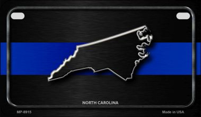 North Carolina Thin Blue Line Novelty Wholesale Motorcycle License Plate MP-8915