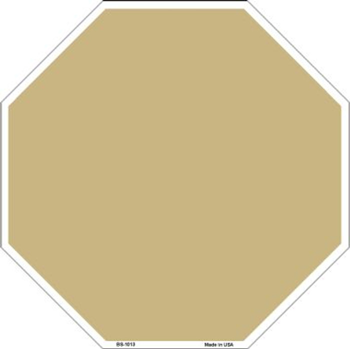 Gold Dye Sublimation Wholesale Octagon Metal Novelty Stop Sign BS-1013