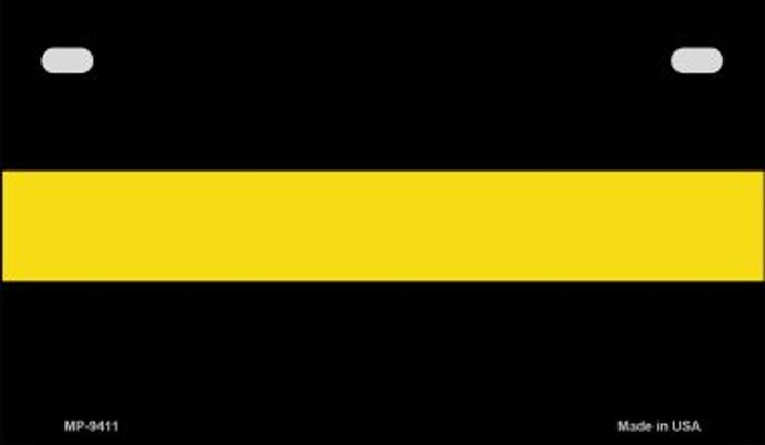 Yellow Thin Line Novelty Wholesale Motorcycle License Plate MP-9411