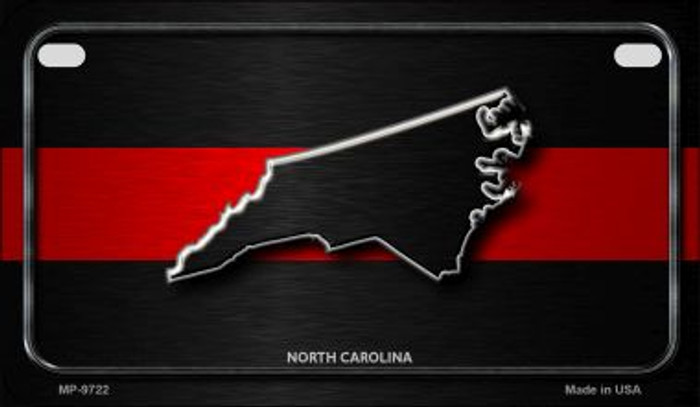 North Carolina Thin Red Line Novelty Wholesale Motorcycle License Plate MP-9722