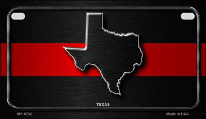 Texas Thin Red Line Novelty Wholesale Motorcycle License Plate MP-9732