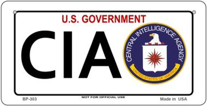 CIA Novelty Wholesale Bicycle License Plate BP-303