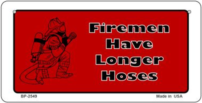 Firemen Have Novelty Wholesale Bicycle License Plate BP-2549