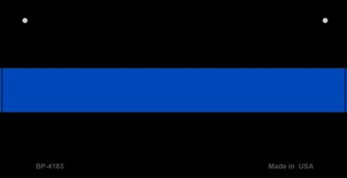 Thin Blue Line Police Novelty Wholesale Bicycle License Plate BP-4183
