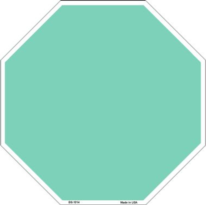 Mint Dye Sublimation Wholesale Octagon Metal Novelty Stop Sign BS-1014