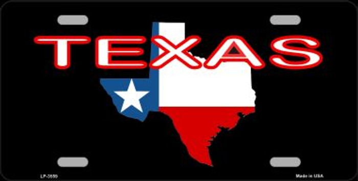 Texas Filled State Flag Wholesale Metal Novelty License Plate