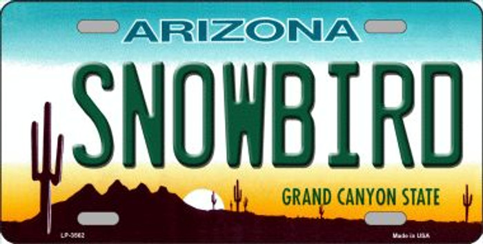 Snowbird Arizona Novelty Wholesale Metal License Plate