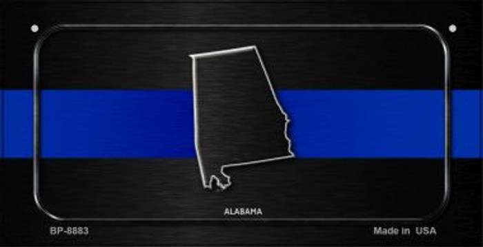 Alabama Thin Blue Line Novelty Wholesale Bicycle License Plate BP-8883